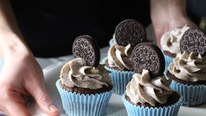 Oreo Cupcakes with a Cream Cheese Frosting