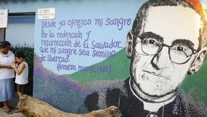 Mural depicting Archbishop Oscar Romero