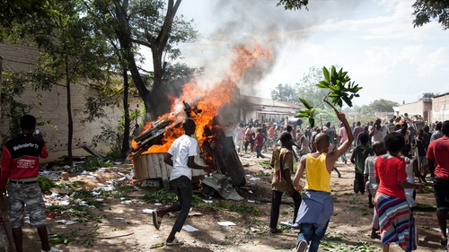 There was violence and looting after the attempted coup
