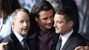 Boyd, Bloom and Wood at the premiere of The Hobbit: The Battle of the Five Armies in 2014