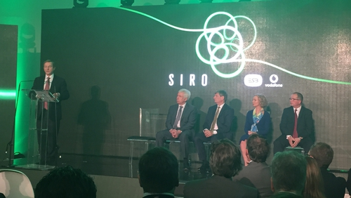 Taoiseach Enda Kenny spoke at the launch of the Siro joint venture