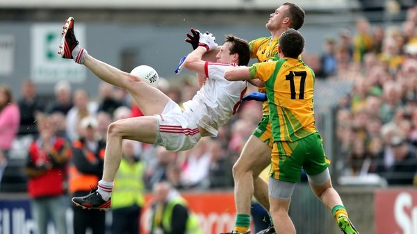 Action from the 2013 Ulster Championship meeting between Donegal and Tyrone