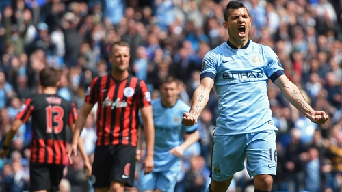 Sergio Aguero returns to the side after only featuring for seven minutes of the Juve clash