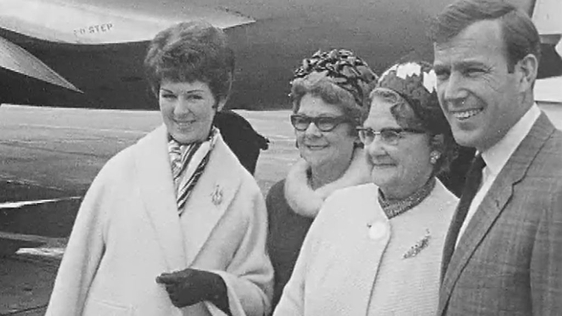 Val Doonican at Dublin Airport (1965)