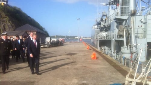Taoiseach Enda Kenny met the crew prior to their departure today