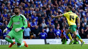 Ireland's Wes Hoolahan put Norwich ahead from the penalty spot