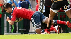 Conor Murray scored a hat-trick for Munster