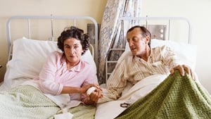 Patricia Knatchbull and her husband Lord Brabourne, recovering in the ENT ward of Sligo General Hospital, after they were reunited.  The hospital staff had placed the beds together and the Knatchbulls' son, Timothy, also had a bed in the room
