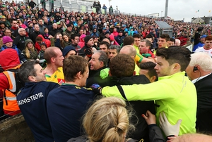 Tempers flare at half-time in Ballybofey