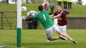 Westmeath's Shane Dempsey scores their second goal against Louth in the sides' Leinster SFC first-round tie