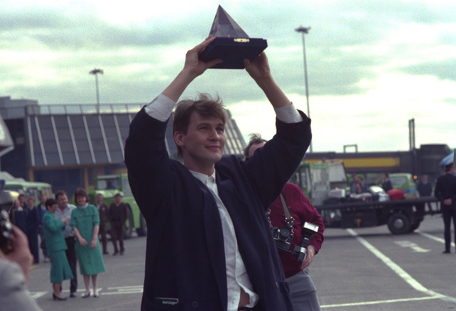 Johnny Logan after his Eurovision win (1987)