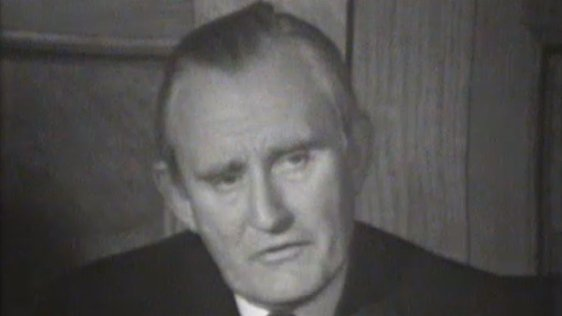 Prime Minister of Northern Ireland, James Chichester-Clark, speaking at a Northern Ireland Government press conference on 12 September, 1969.