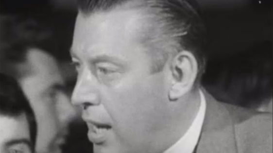 Ian Paisley talks to RTÉ News reporter, Eddie Barrett, on 14 September 1969, about the Cameron Report.