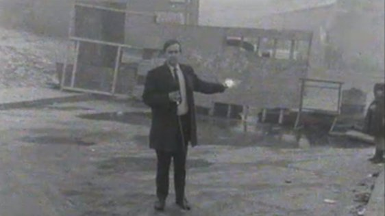 RTÉ News reporter, Martin Wallace, reports from Stormont on the Cameron Report debate on 1 October, 1969.