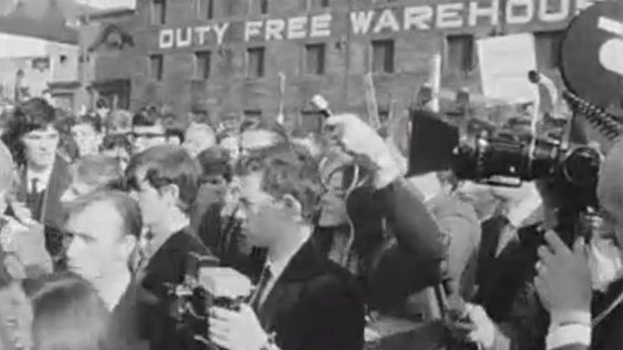 Derry Civil Rights Demonstration led by Gerry Fitt and Eddie McAteer. 5 October, 1968.