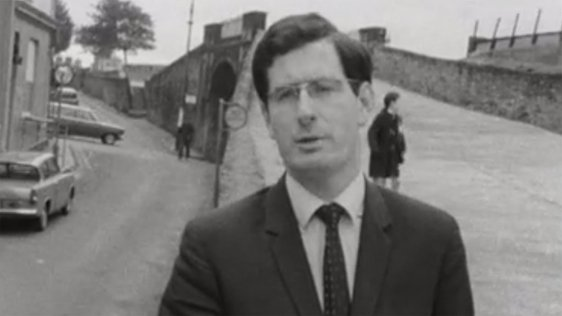 RTÉ News reporter, Pat Sweeney, reporting from Derry on 8 October 1968.