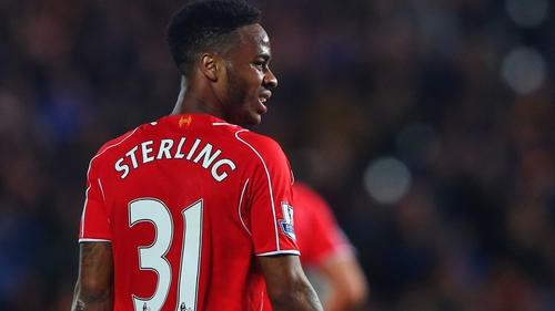 Raheem Sterling has 14 England caps