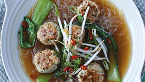 Neven Maguire's Vietnamese Pho with Chicken Dumplings and Pak Choy