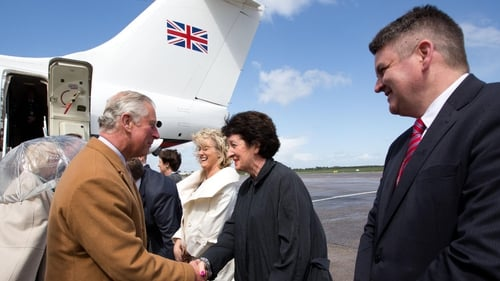 Prince Charles and his wife arrived at Shannon Airport this morning on a chartered flight