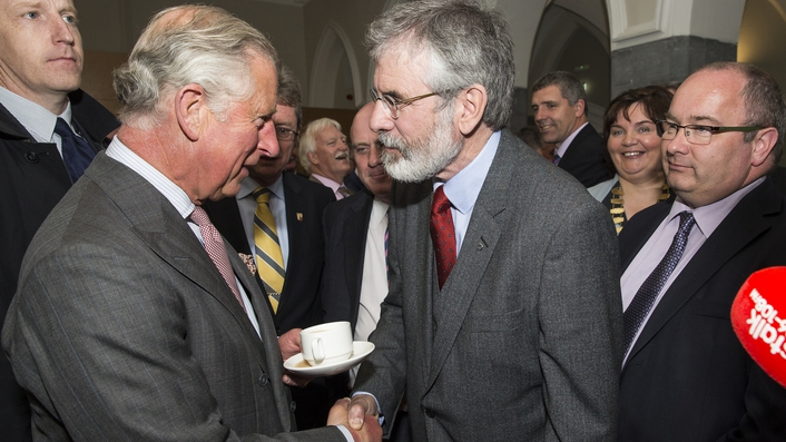 UK reaction to meeting of Prince Charles and Gerry Adams