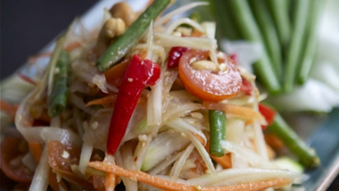 Som Tam - Try this amazing Saba recipe for Thai Green Papaya Salad.