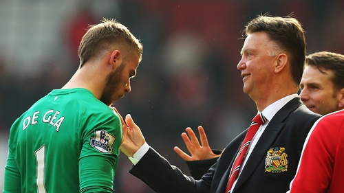 David de Gea won the United accolade but Louis van Gaal won in the performance stakes at the awards ceremony