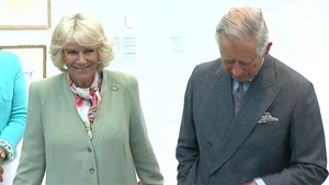 Prince Charles and his wife Camilla arrive at the Model Arts Centre