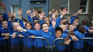 Local schoolchildren are excited to see Prince Charles and Camilla