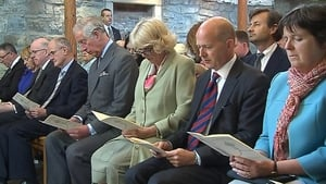 Prince Charles and his wife Camilla attend a service at St Columba's Church in Drumcliffe