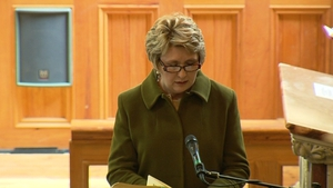 Former president Mary McAleese speaks at the service
