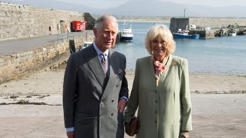 While in Mullaghmore Prince Charles and the Duchess of Cornwall paid a visit to the village harbour