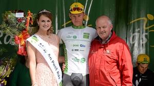 Ryan Mullen takes the Irish Sports Council U23 jersey