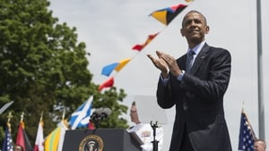 Barack Obama said denying climate change 'undermines the readiness of our forces'