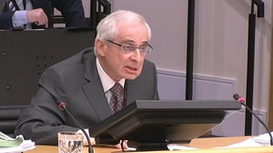 Former governor of the Central Bank John Hurley has been giving evidence to the Banking Inquiry