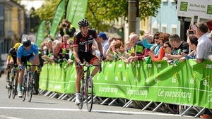 Ian Bibby, NFTO, crosses the line to win Stage 6