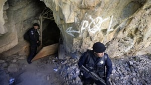 The latest happened in Michoacan, a region in which police and drug gangs have engaged in a number of conflicts, including in February of this year (pictured), when Mexican police captured Knights Templar drug cartel's leader Servando Gomez