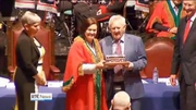 RTÉ News: Actor and comedian Niall Tóibín honoured with the Freedom of Cork City