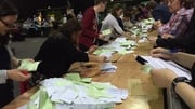 Counting is under way at 27 centres across the country as tally men and women look on