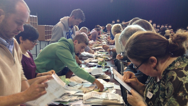Counting the ballots in Kilkenny