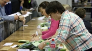 Counting is under way at 27 centres across the country as tally people look on