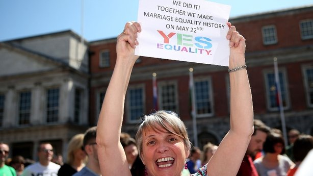 Irish marriage equality supporters rejoice today