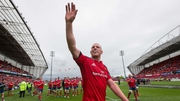 Paul O'Connnell waves to the Thomond faithful