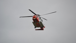 The boy was taken by helicopter to Cork University Hospital (Picture: John O'Dea)