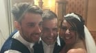 Gary Barlow with Anita and Alex Morrisey