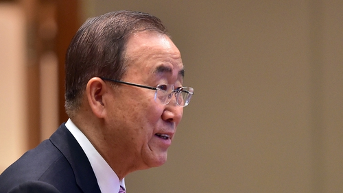 Ban Ki-moon was awarded the Tipperary International Peace Award yesterday
