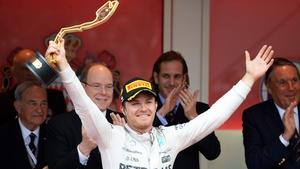Nico Rosberg celebrates an unlikely victory