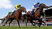 Al Kazeem (right) turned in a vintage performance at the Tattersalls Gold Cup