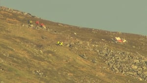Plane crash occurred about 250ft from mountain range summit