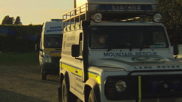 Members of South East Mountain Rescue and gardaí are at the scene