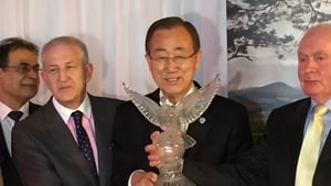 Ban Ki-moon was awarded the Tipperary International Peace prize yesterday